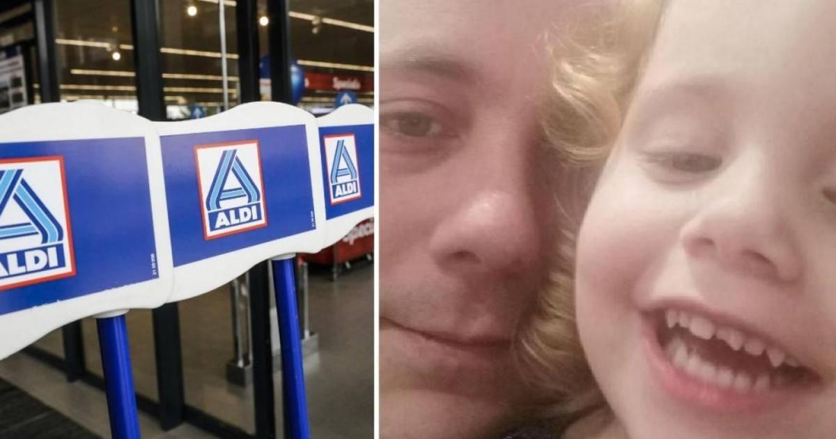 Un Supermarché Aldi l'oblige à laisser sa fille à l'emplacement des...