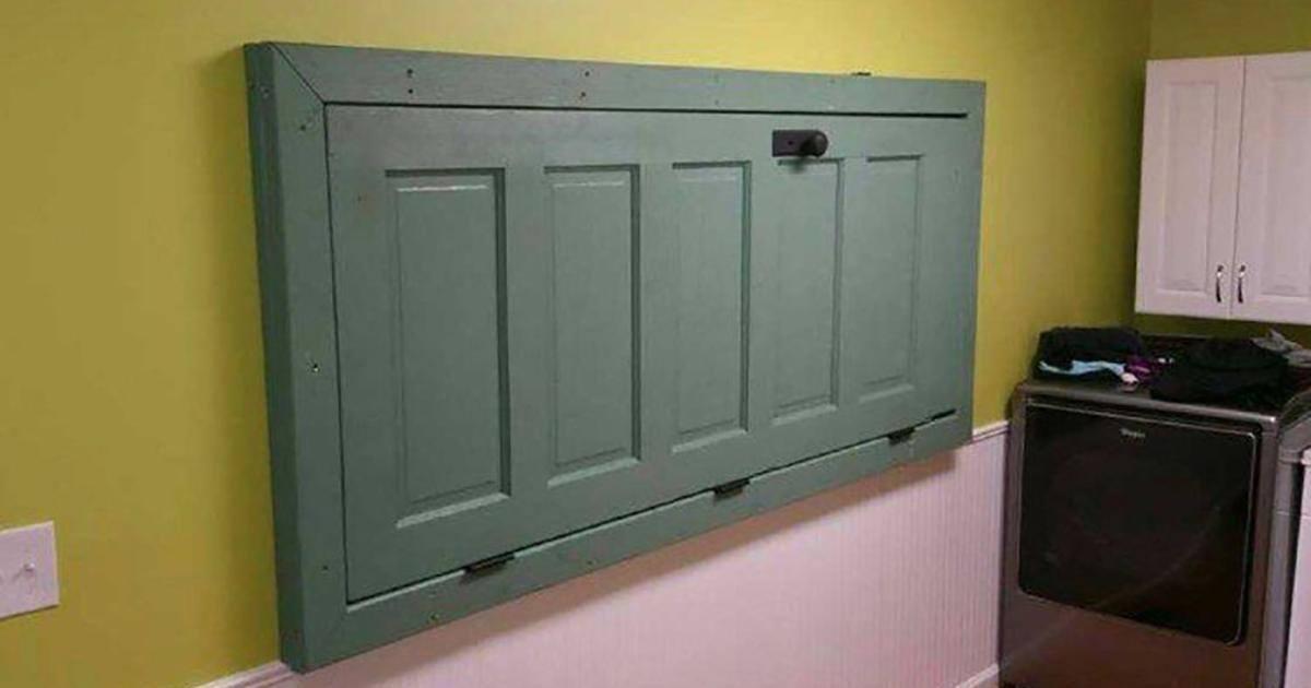 Voici une astuce pour maximiser l'espace avec une vieille porte
