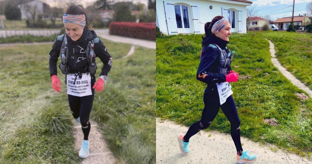 Une athlète confinée court 85 km dans son jardin pour la bonne cause!