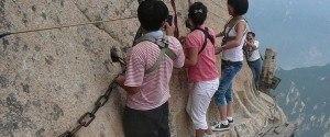 En Chine, le Chemin de planche du mont Hua et la piste la plus...