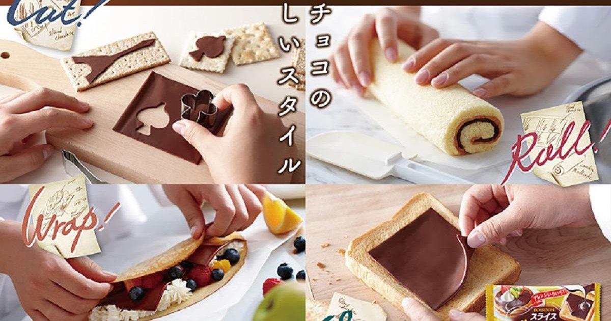 Le chocolat en tranches, le délice culinaire venu du Japon