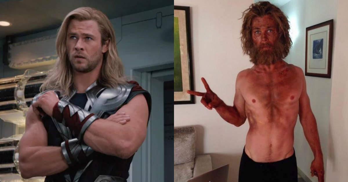 Chris Hemsworth, le héros de Thor, est méconnaissable