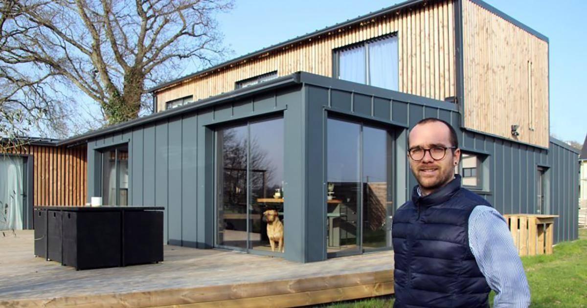 Il a construit une magnifique maison avec six containers maritimes