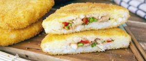 Les croustillantes galettes de poulet et riz teriyaki,...