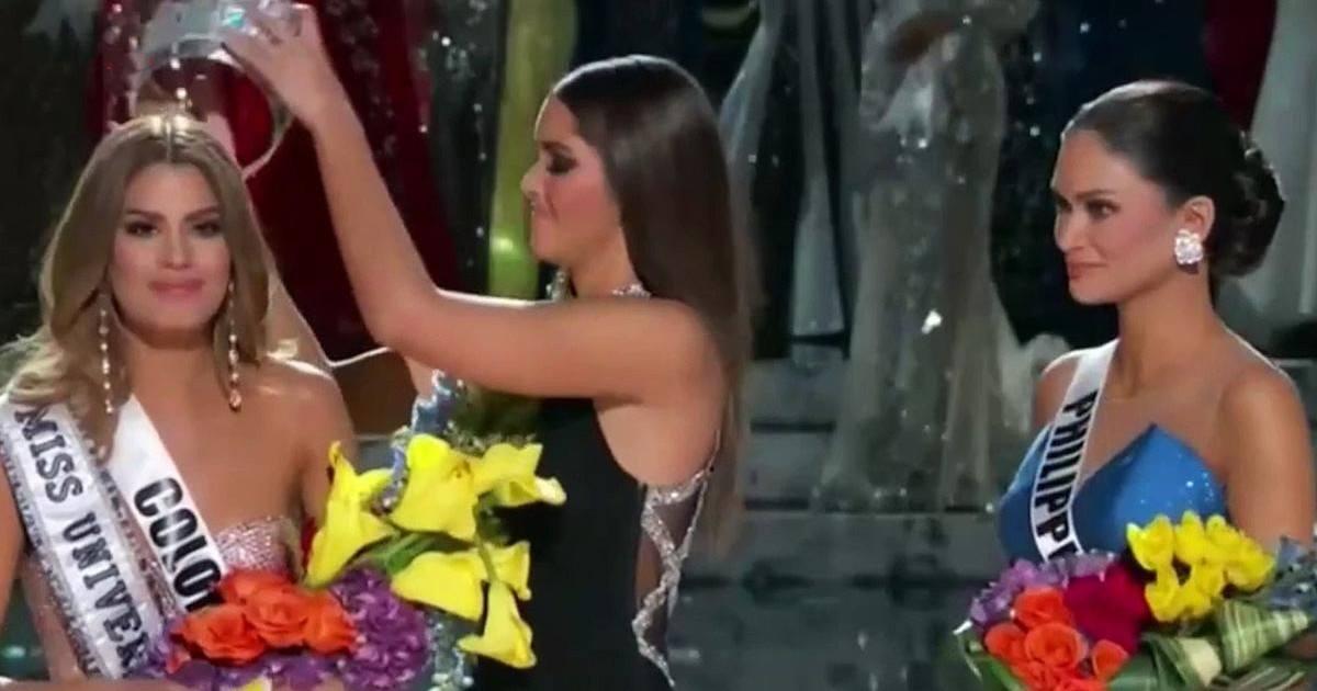 Miss Univers 2015 : l'animateur annonce la mauvaise gagnante