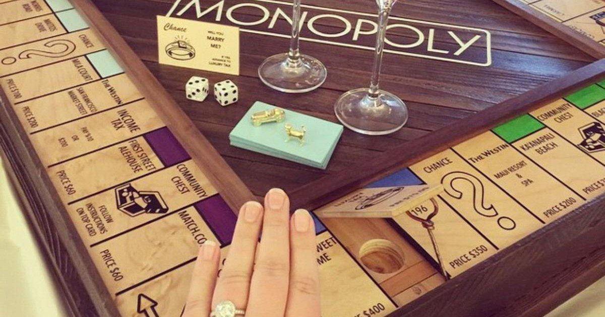 Il fabrique un Monopoly pour demander sa femme en mariage