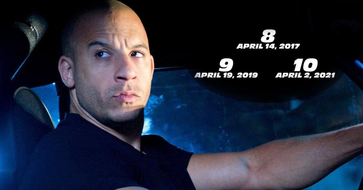 Fast and Furious 8, 9 et 10 annoncés par Vin Diesel !