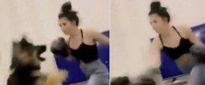 Cette femme boxe son chien et provoque la fureur des...