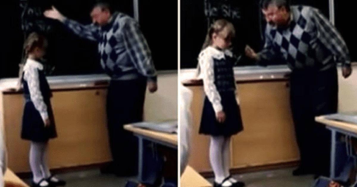 Une fille de 8 ans se venge suite à l'humiliation que son professeur lui a...