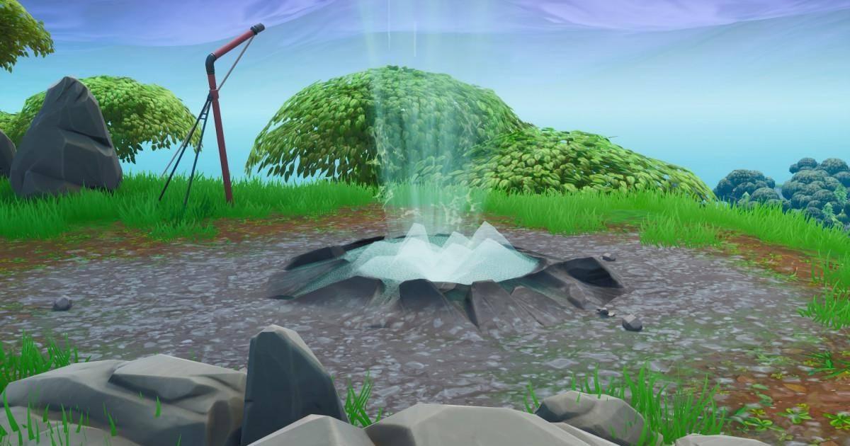 Fortnite -  Défi, utiliser trois geysers d'affilée sans atterrir