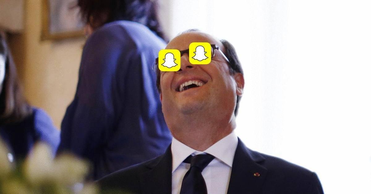 François Hollande débarque sur Snapchat