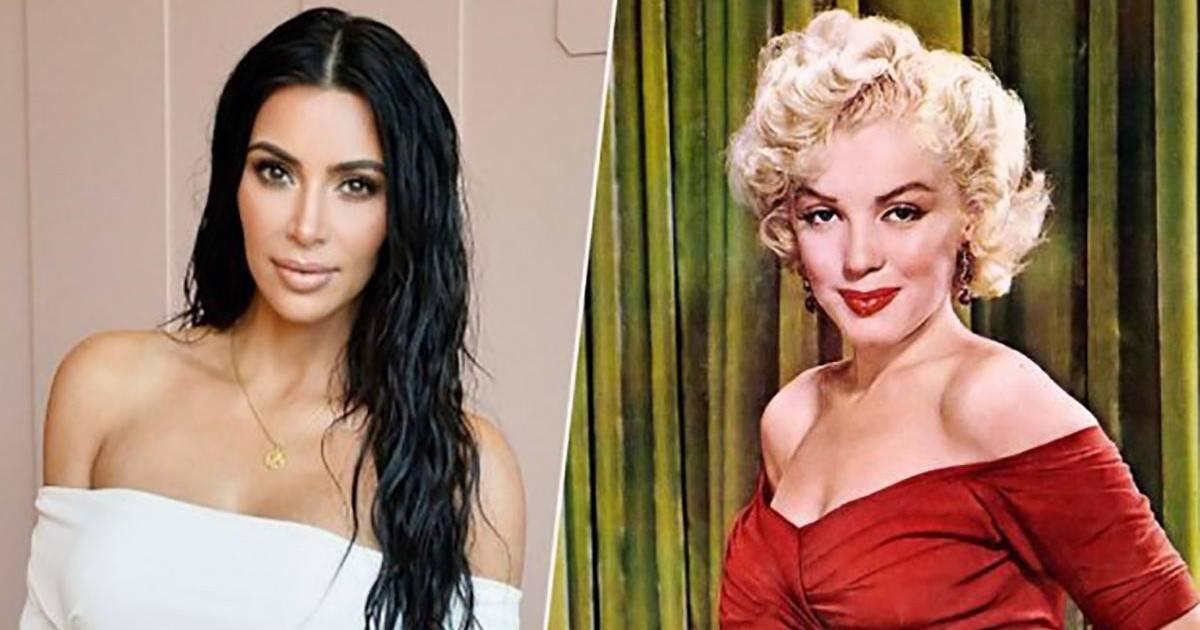 La star Kim Kardashian rend hommage à Marilyn Monroe sur son Instagram !