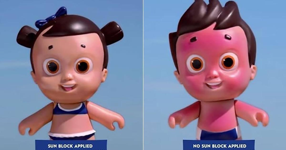 Nivea Doll, la première poupée sujette aux coups de soleil !