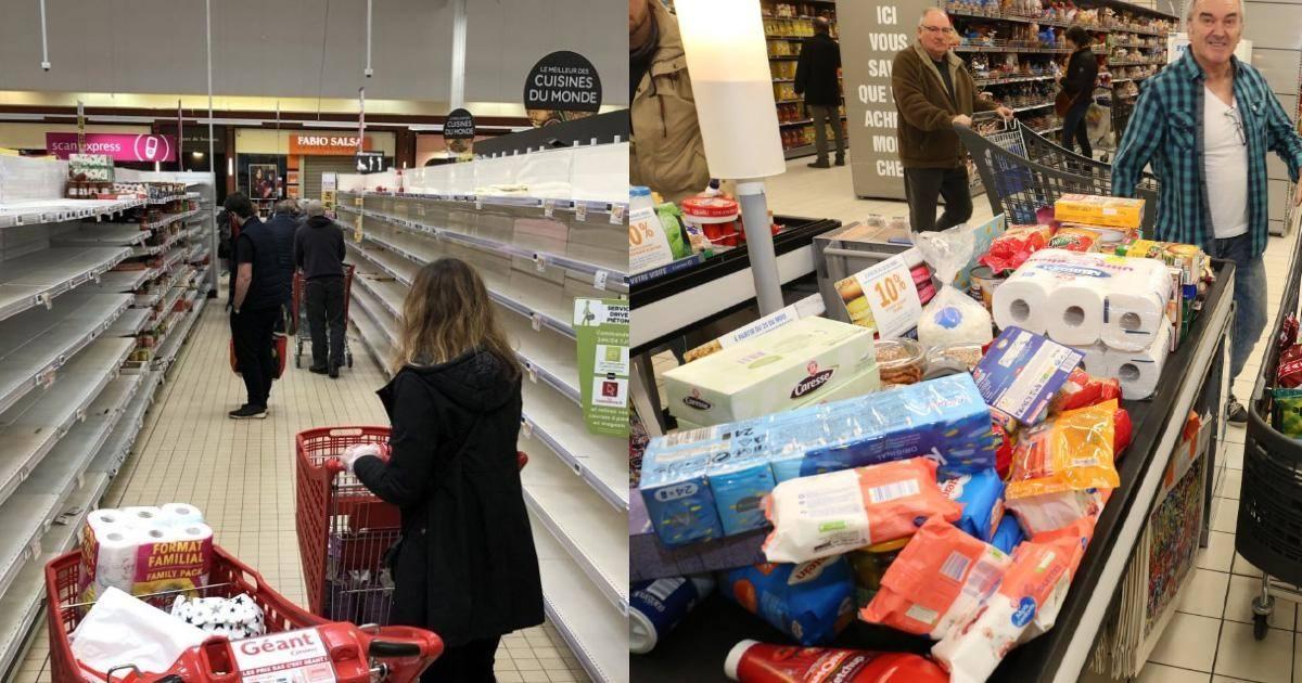 Par peur de pénurie des clients se battent dans les supermarchés
