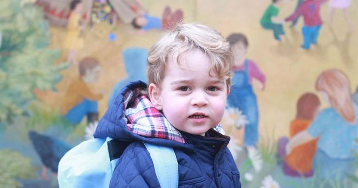 Le prince George fait ses premiers pas à la crèche