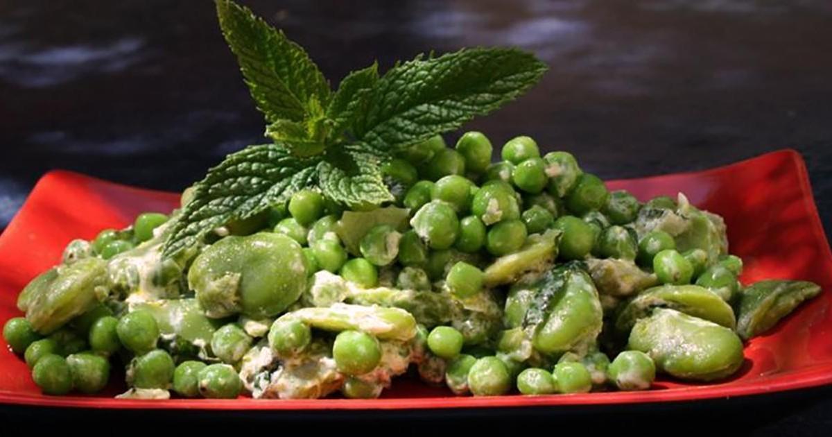 La recette des crackers et de la tartinade petits pois et fèves pour l'apéro