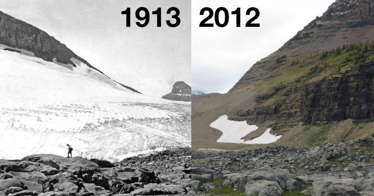 La NASA dévoile des photos avant et après le réchauffement climatique