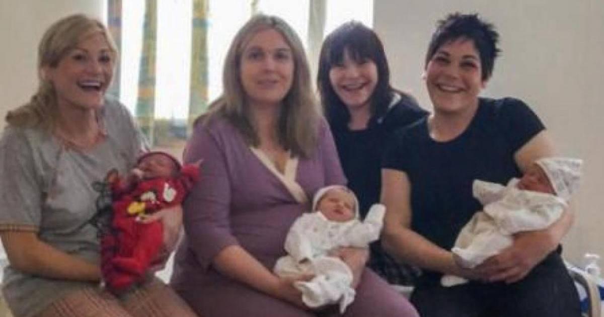 Trois accouchements, le même jour, pour trois soeurs