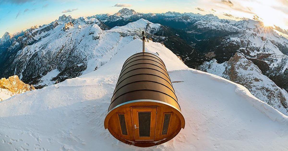 Profitez d'une séance de sauna au coeur des Dolomites à 3000 mètres d'altitude