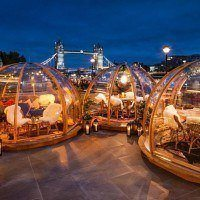 A Londres manger dans des bulles chauffées et profiter de la beauté de la ville