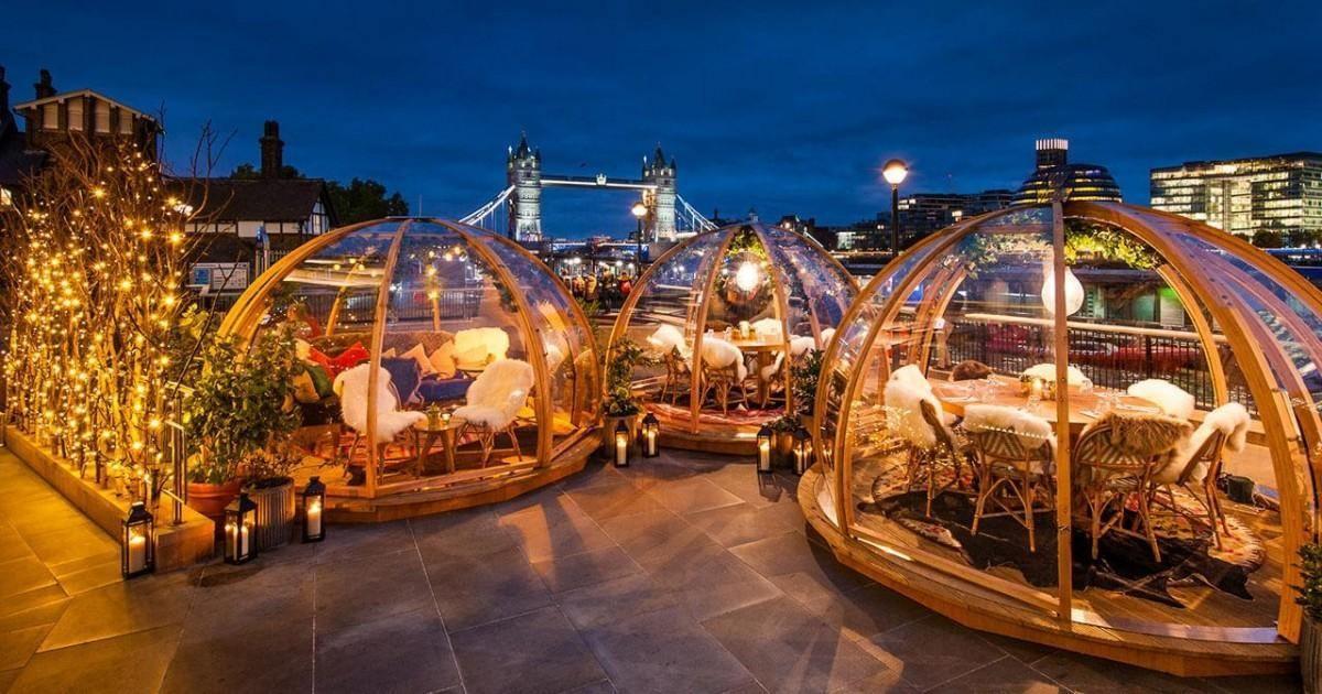 A Londres manger dans des bulles chauffées et profiter de la beauté de la...