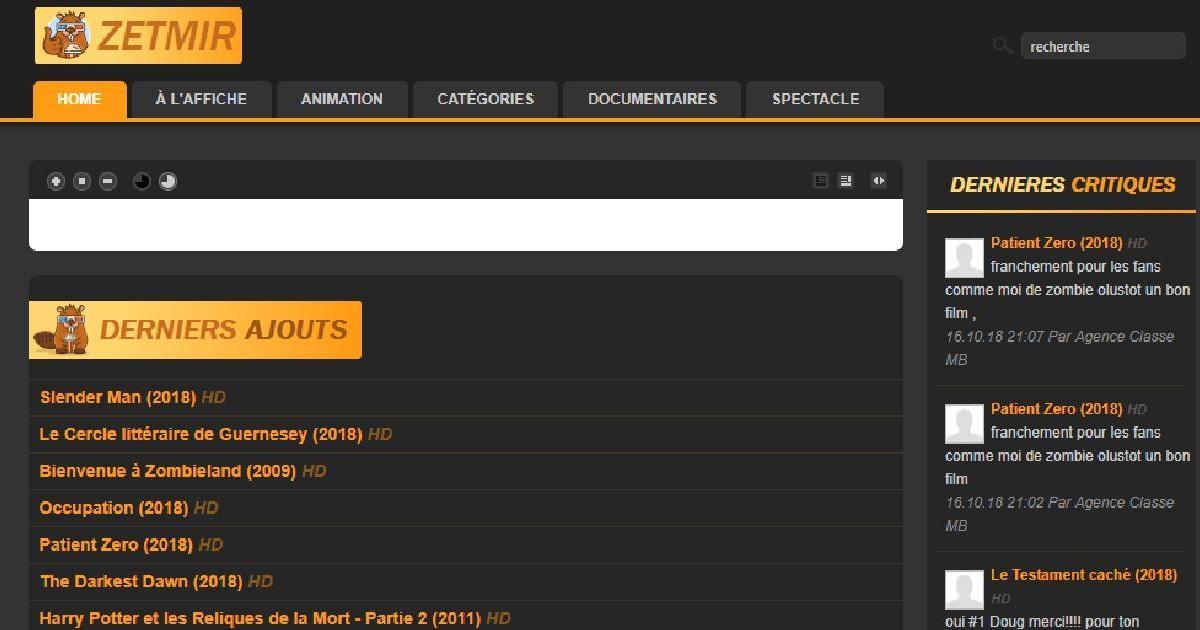 Zetmir pour regarder des films français en Streaming gratuitement en HD