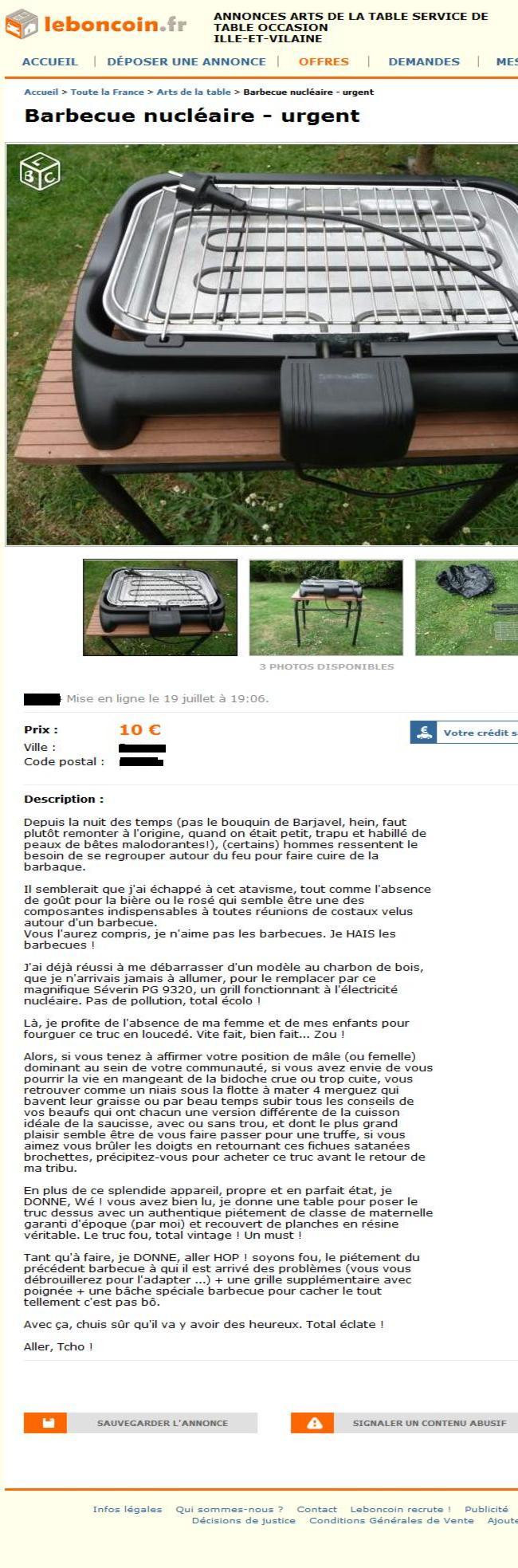 Le Bon Coin - barbecue
