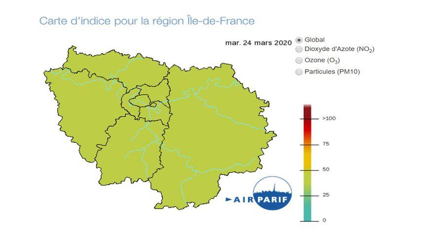 La pollution de l'air baisse à Paris suite au confinement